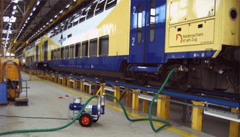 پمپ کشتی و قطار