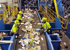 خط تفکیک زباله